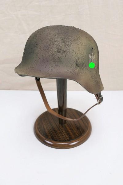 Wehrmacht camouflage DAK Tropen Stahlhelm M35 M40 DD Rauhtarn camouflage helmet size 57/58 #60