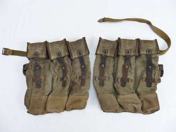 #18 Vintage Wehrmacht 2x magazine pouch pair assault rifle 44 STGW44 MP44 MKB aged ANTIK
