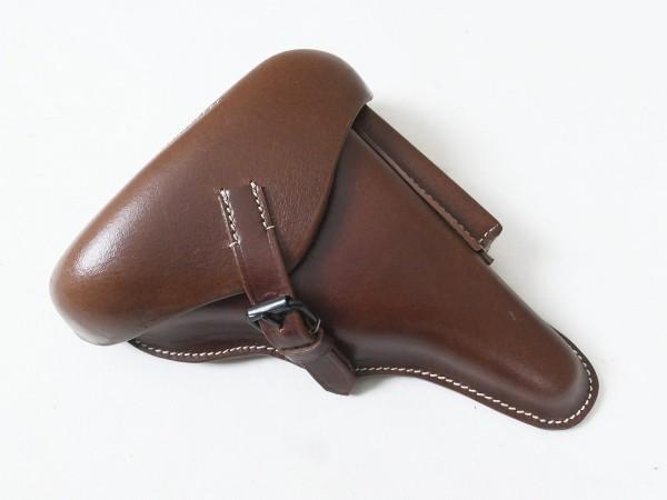 Pistol holster P08 black leather
