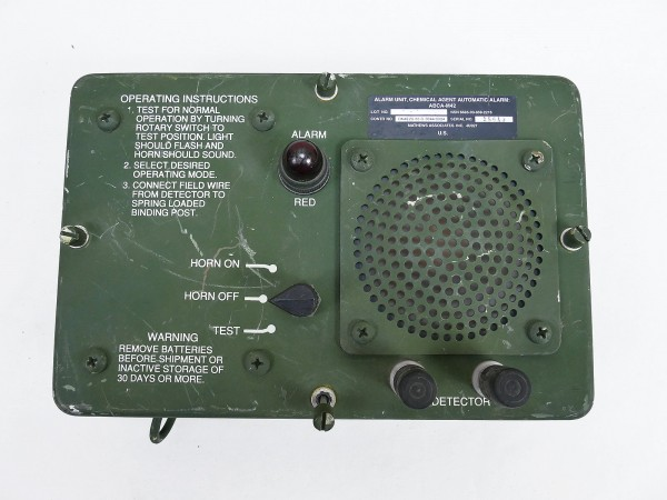 US ARMY Chemical Agent Automatic Alarm Unit ABCA M42 for Military Vehicles Siren Jeep Humvee