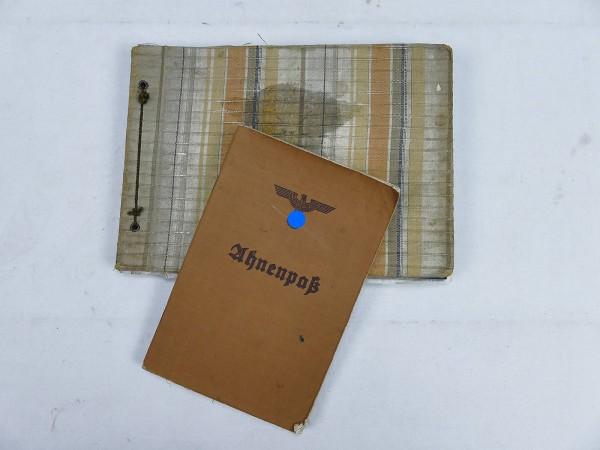 Wehrmacht photo album (also France) with ancestor passport of the soldier