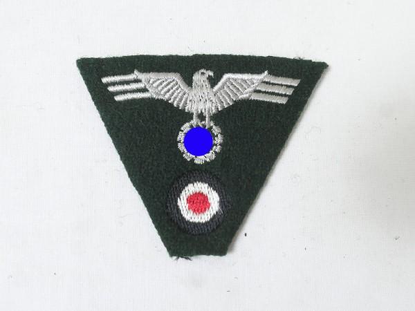 Wehrmacht army trapeze cap badge embroidered cap eagle Feldmütze