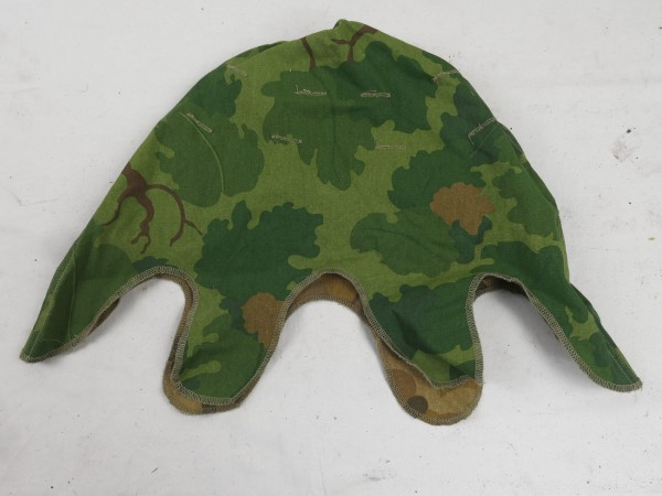 US Army Mitchell Helmet Cover Leaf Pattern Reverseable M1 Helmet Cover Vietnam Repro Prewashed