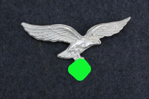 Luftwaffe LW cap eagle cap badge silver plated