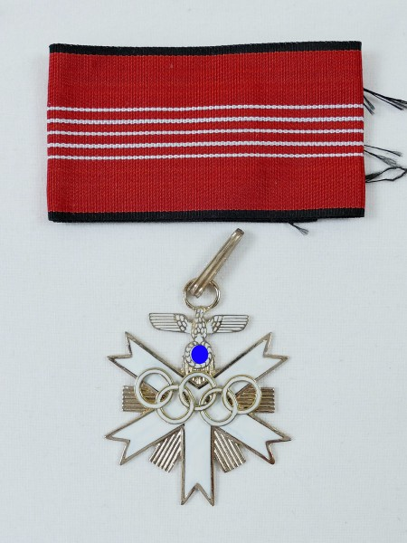 German Olympia Badge of Honour 1936 1st class neck cross on ribbon
