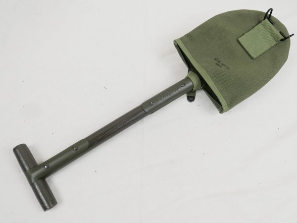 US Army WW2 M10 spade with spade cover Sems 1942 Jeep Cover J.A. Shoe 1942