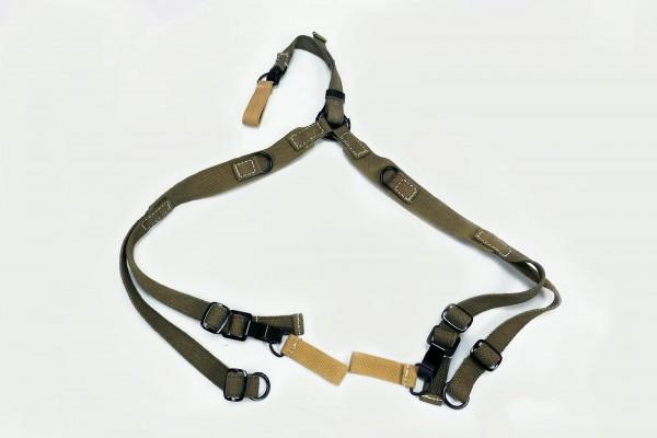 Wehrmacht DAK Afrikakorps Tropen Web Y-Strap with 3 Belt Loops