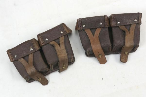 Original Russian Mosin Nagant cartridge bags 1x pair brown leather