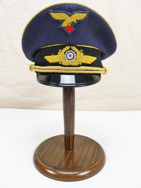 Luftwaffe visor cap General Gr.59 with hand embroidered effects
