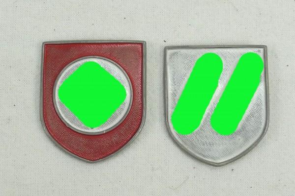 Wehrmacht 2x Helmet Badge WSS Pith Helmet Weapons Elite