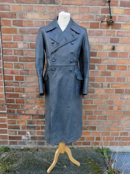 Vintage Wehrmacht Officers Coat Leather Coat Gr.46/48
