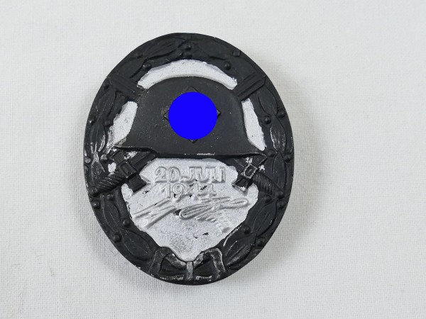 Wehrmacht wounded badge 20.July 1944 blackened