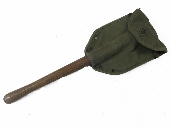 US Army WK2 folding spade 1943/44 with spade bag