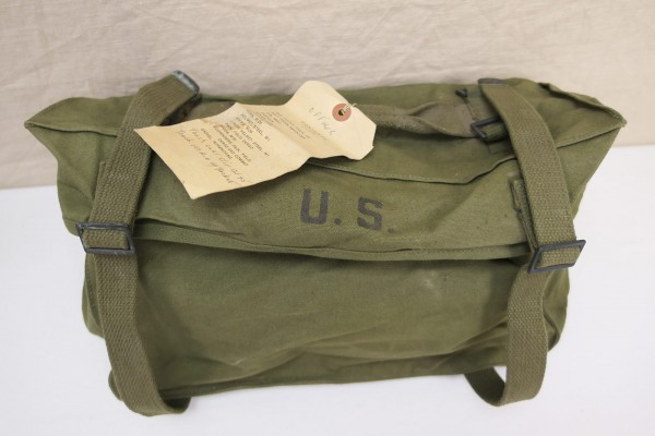 US combat bag Pack Field Cargo M-1945 Canvas with original packing slip