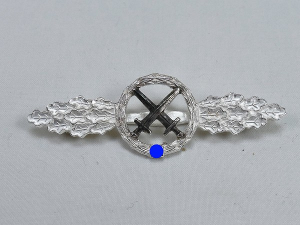 Luftwaffe Front Flight Badge Battle Pilot Level Silver
