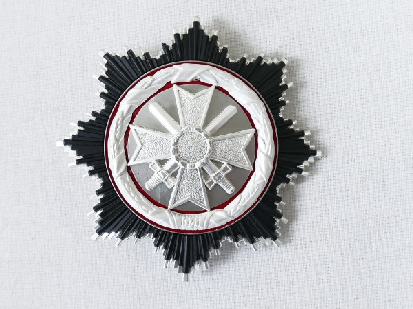 "German cross in silver design 1957 manufacturer ""1"