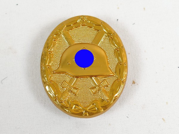 Wehrmacht Wounded Badge Gold massive