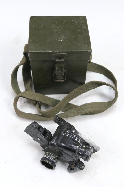 US ARMY WW2 M4 Sight 60mm Mortar & Carrying Case T42 Optic Mortar with Case #2