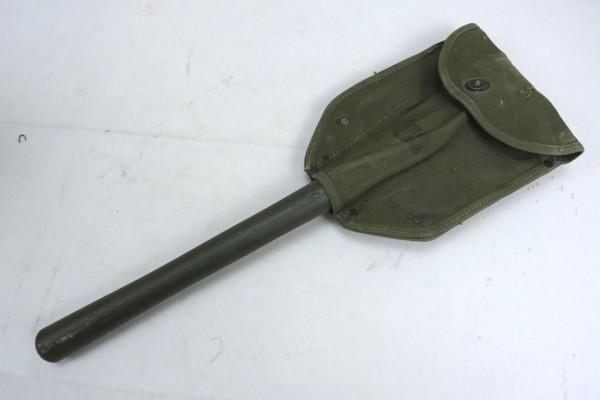 US Army Folding Spade Spade + WW2 Spade Bag / Shovel + Cover 1944 Entrenching