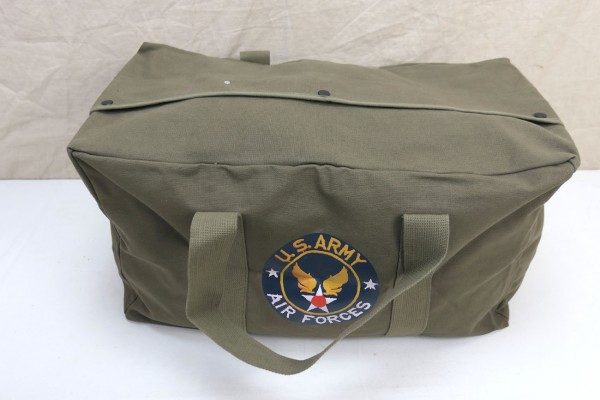 US WW2 Air Force JEEP Cargo Bag Canvas Commando Bag Carrying Bag olive
