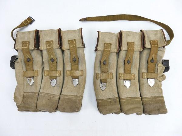 #04 Wehrmacht 2x Magazine pouch pair Sturmgewehr 44 Tropen Südfront STGW44 MP44 MKB Afrikakorps