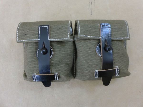 Wehrmacht G43 / K43 Canvas / Leather magazine bag textile olive