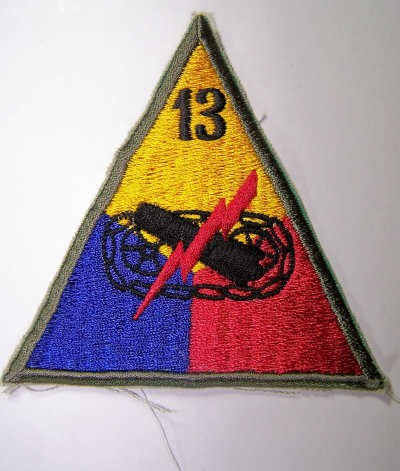 US sleeve badge 13th Armored Division