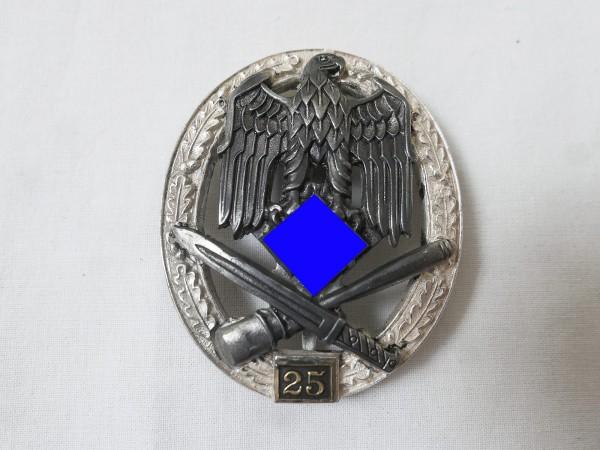 Wehrmacht General Storm Badge JFS with Mission Number 25 / Allgemeines Sturmabzeichen