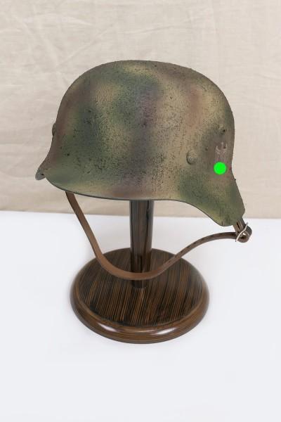 Wehrmacht camouflage DAK Tropen Stahlhelm M35 M40 DD Rauhtarn camouflage helmet size 59/60 #57