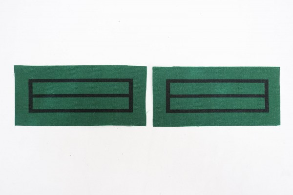 1x pair of WSS Scharführer Oberjunker rank badges for camouflage uniforms and special clothing