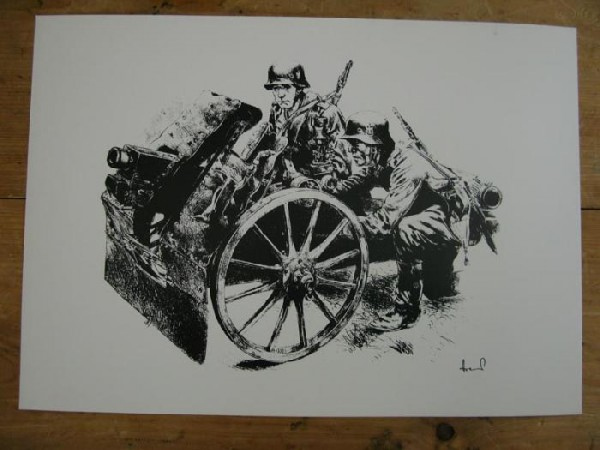 WH art print light infantry field howitzer