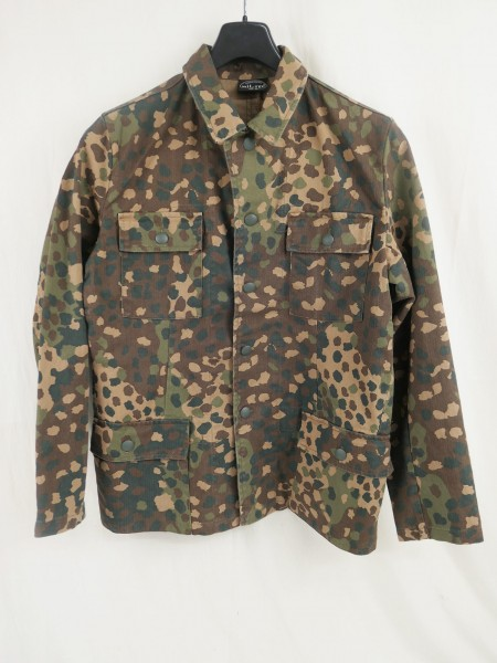 M44 pea dot field blouse camouflage jacket four pocket skirt / pea dot pre washed with effects of an Unterscharführer