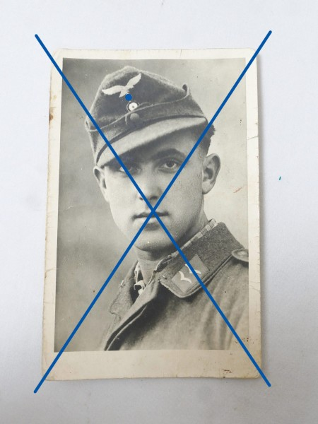 Luftwaffe Portrait Photo of a soldier / aviator with flight blouse 8.7 x 13.7
