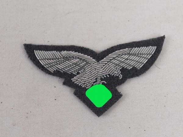 Luftwaffe officer cap eagle cap badge blue grey embroidered f. peaked cap / shuttle