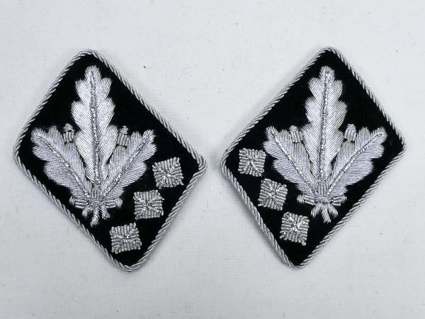 Pair of WSS rank badges / collar patches Oberstgruppenführer / Generaloberst -flat design-