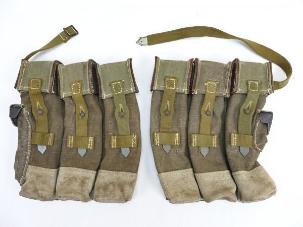 #03 Wehrmacht 2x magazine pouch pair assault rifle 44 tropics southern front STGW44 MP44 MKB late war