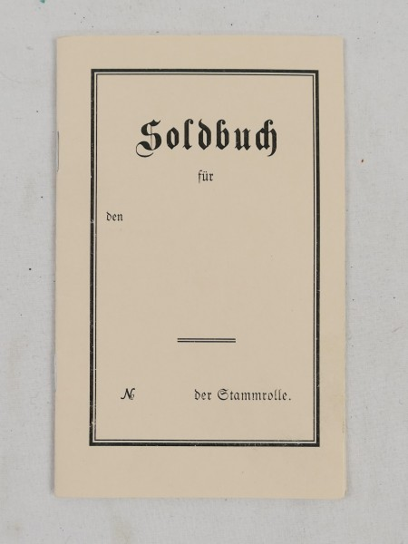 pay book soldier 1st world war 1914-18