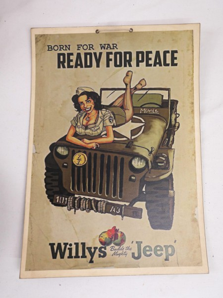 Picture Poster Ready for Peace - Willys Jeep
