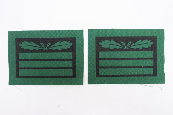 1x pair of WSS Hauptsturmführer rank insignia for camouflage uniforms and special clothing
