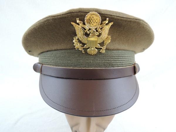 US ARMY WW2 Officer Crusher cap VISOR HAT Visor Cap Officer