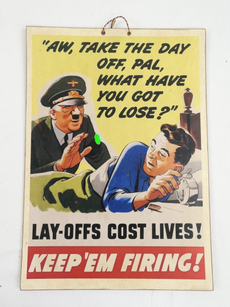 picture poster poster anti German A.H. satire / solid cardboard / cardboard