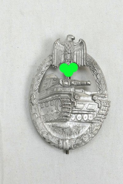 Tank Combat Badge Level silver hollow embossed