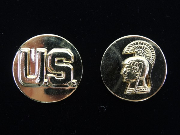 US WAC Women Army Corps collar disks collar badge
