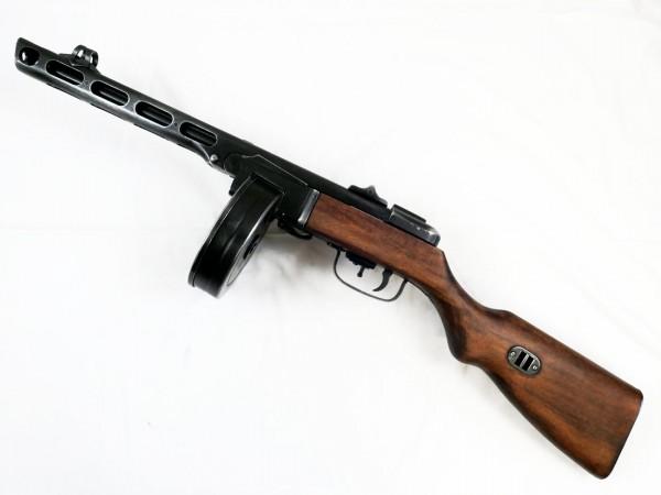Russian PPsH 41 submachine gun with drum magazine / deco model antique finish