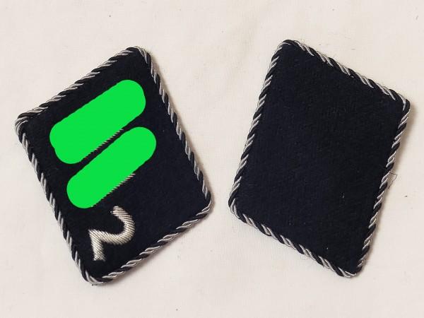 Pair Elite Collar Mirror / 7th XX Volunteer Mountain Division Prince Eugene Untersturmführer