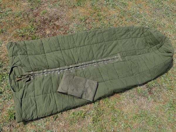 Vintage Army Korea Vietnam Sleeping Bag M58 + Sleeve / sleeping bag + cover TYP3