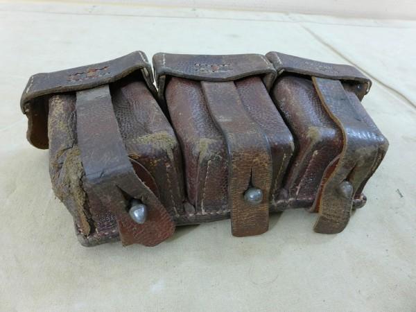 WK1 Original cartridge case leather Münster 1916 rifle / carbine #8