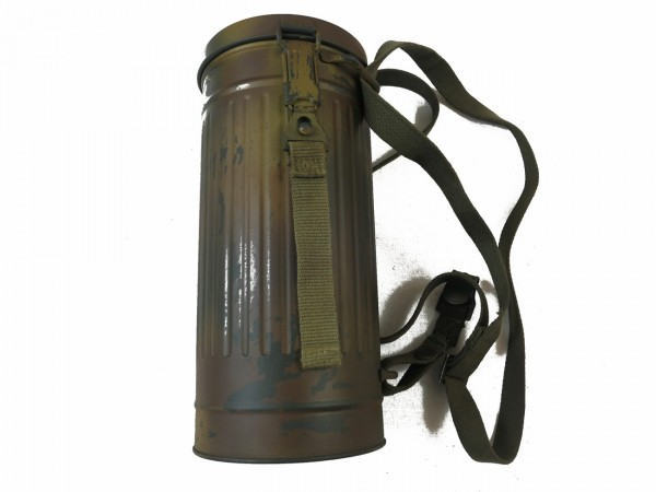 Wehrmacht Camouflage Camouflage Gas Mask Container