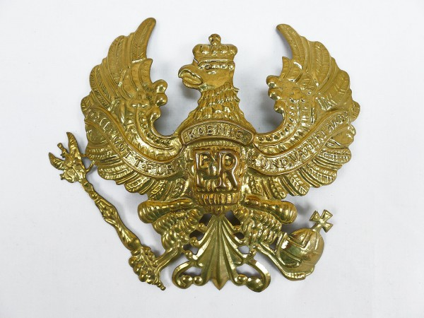 Brass eagle line eagle ornament for helmet pickelhaube Prussia spare part large