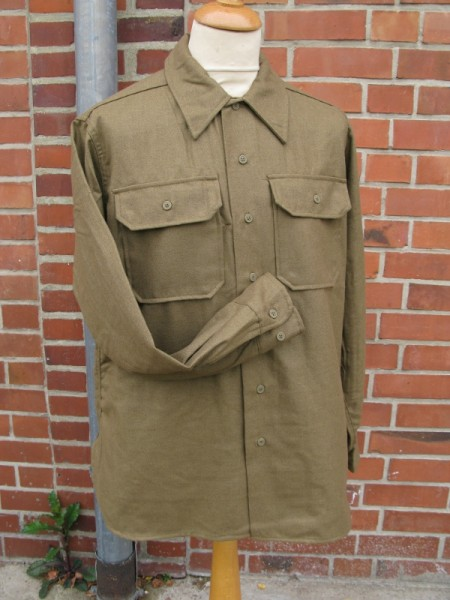 US Army field shirt M37 wool mustard brown for teams